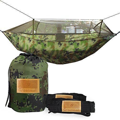 Great Camping Hammock : Greenmall Portable Outdoor Traveling Camping Parachute Nylon Fabric Hammock with mosquito net 660lbs MeisaiGreenmall Portable Outdoor Traveling Camping Parachute Nylon Fabric Hammock with mosquito net 660lbs Meisai *** Visit the image link more details. Note:It is Affiliate Link to Amazon.
