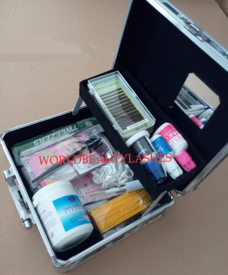 83.61$  Watch now - http://alijos.shopchina.info/1/go.php?t=32436792145 - hot sale High Quality Eyebrow Extension Kits Wholesale make up box  #buyonline