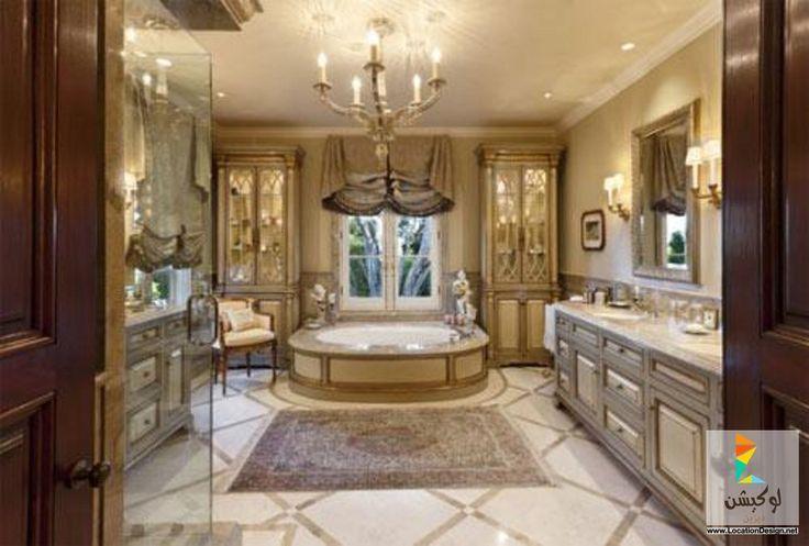 Jennifer Bevan Interiors: ديكورات حمامات فخمه
