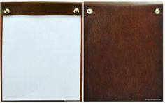 Hilton Worldwide - Single Panel Menu Cover - Genuine Leather with Snap Closure