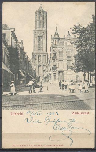 Zadelstraat Utrecht, 1903
