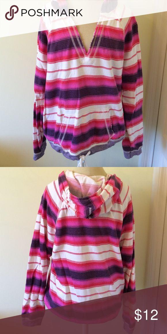 American Eagle hoodie AE hoodie. Pink purple and white striped American Eagle Outfitters Tops Sweatshirts & Hoodies
