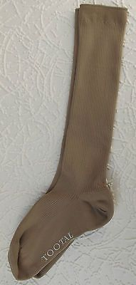 One pair of vintage 1950s Tootal socks suitable for men or older boys 100 Bulked Nylon 3 4 length Tootal brand Fawn colour Made in England probably