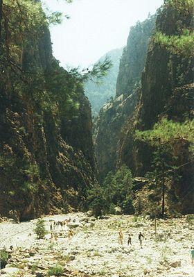 Самарийское ущелье. Остров Крит. The Samaria Gorge on the Greek Mediterranean island of Crete.