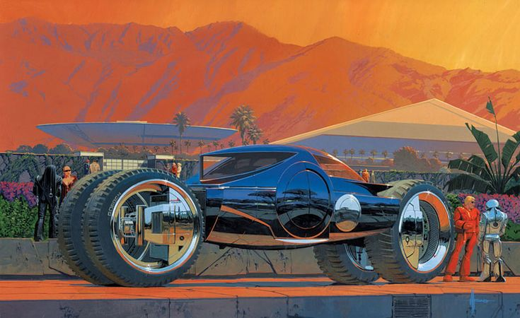 2010 Mega Coach Concept Illustration by Syd Mead