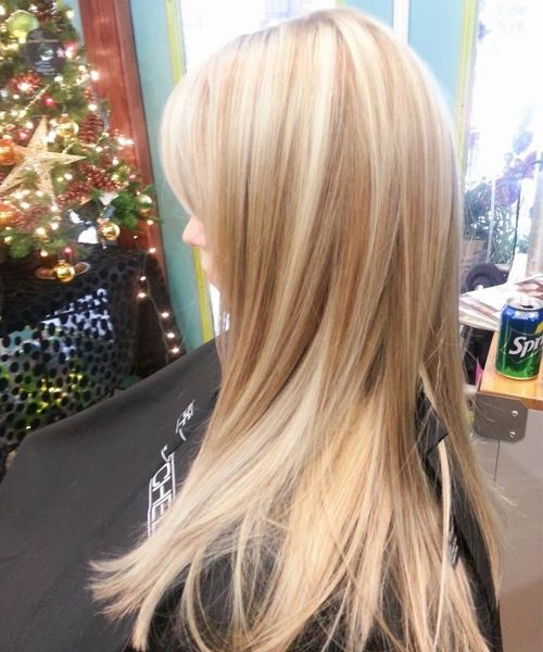 Cutest Platinum Blonde With Brown Lowlights Hairstyles