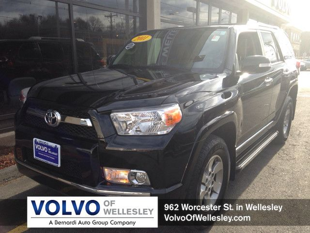 2011 Toyota 4Runner SUV Mileage: 39,084 miles Engine: 4.0L V-6 cyl Transmission: Automatic Drive Line: 4WD Fuel Type: regular unleaded Exterior Color: Black Interior: Sand Beige Contact Barbara Goodman at: 781-235-8841 barbara.goodman@bernardiautogroup.com