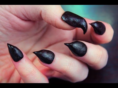DIY: Claw Nails | These look totally rad! Think I'm going to use them for my 'Bird of Paradise' look this year.