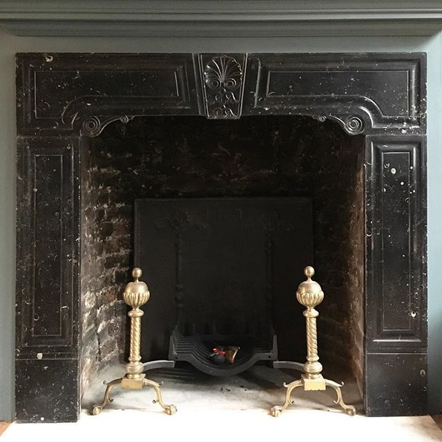 Reproduction Georgian Fireplaces Part - 40: Another Antique Chimneypiece Recently Installed In A London Home. An Early  Georgian Irish Surround In