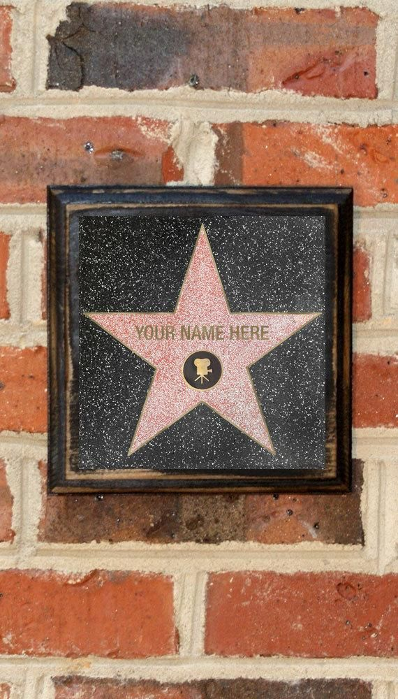 Hollywood Star Custom Name Wall Art Sign Plaque Gift Present