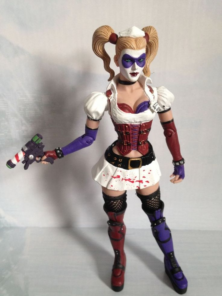 harley quinn figure loose from batman arkham asylum box set by dc collectibles dcdirect. Black Bedroom Furniture Sets. Home Design Ideas