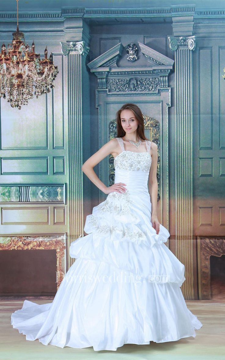 Classic A-Line Ruched Tea-length Charmeuse Reception Wedding Dress ...