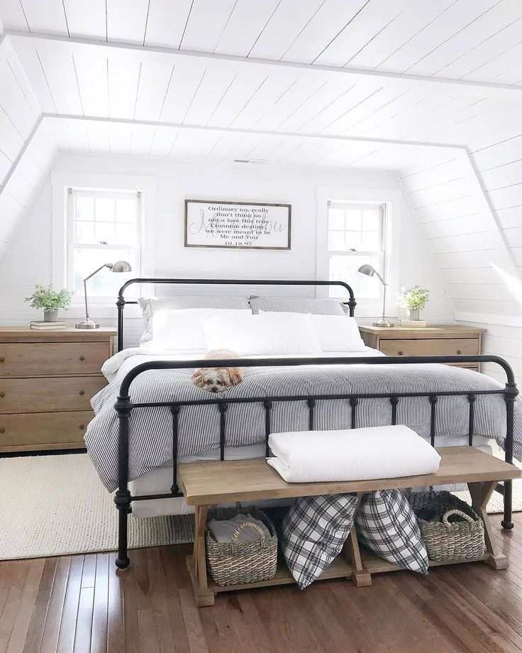 "Farmhouse Homes 🏡 on Instagram: ""This modern farmhouse bedroom is amazing. …"
