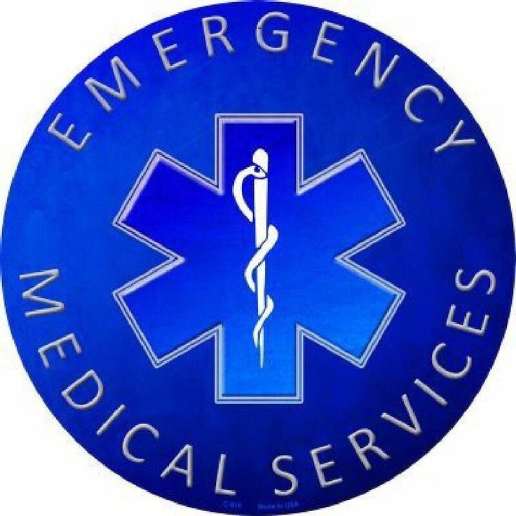EMS Emergency Medical Services Circle Sign