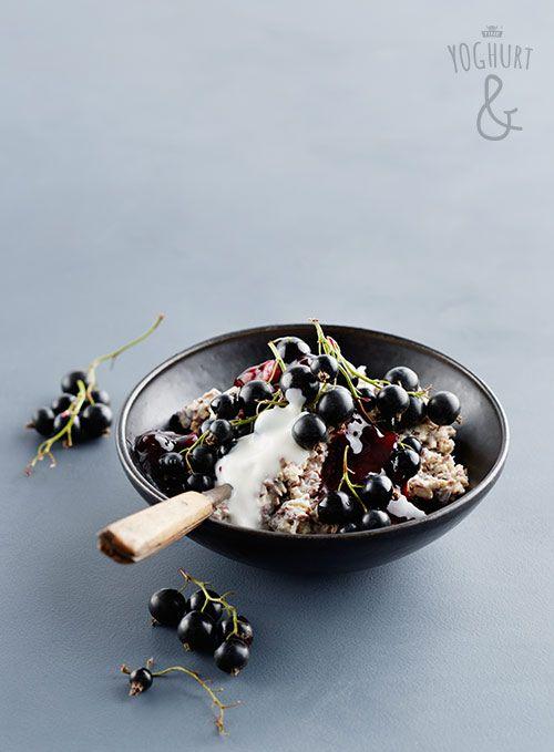 Kjøleskapsgrøt & Solbær - Se flere spennende yoghurtvarianter på yoghurt.no - Et inspirasjonsmagasin for yoghurt.