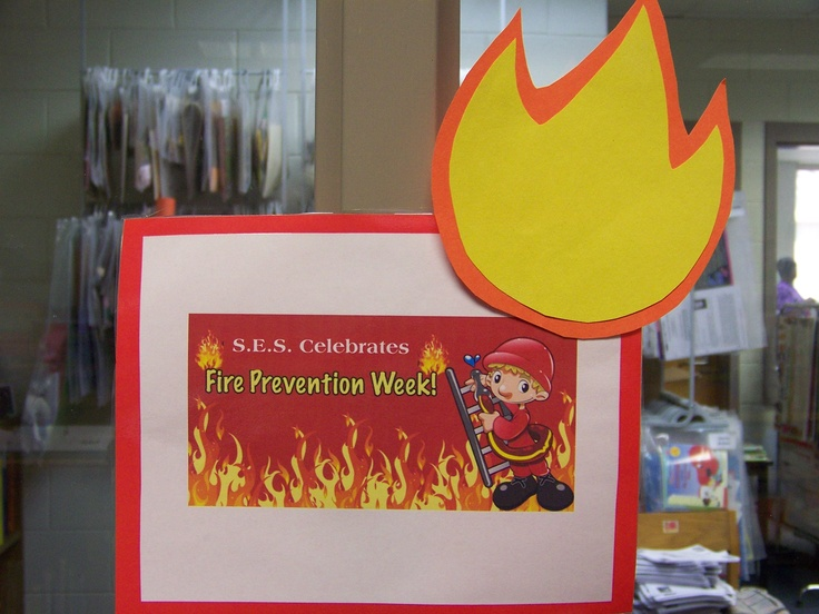 Fire Safety week sign for display   Bulletin Board/Library ...