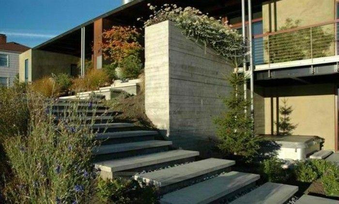 77 best bancs et escaliers images on Pinterest Urban furniture - maison en beton banche