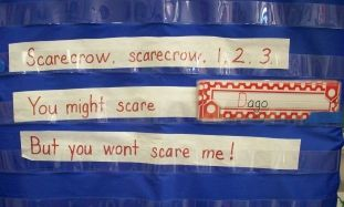 Mrs. Drakes room - SCARECROW.  Great name recognition actiivity.