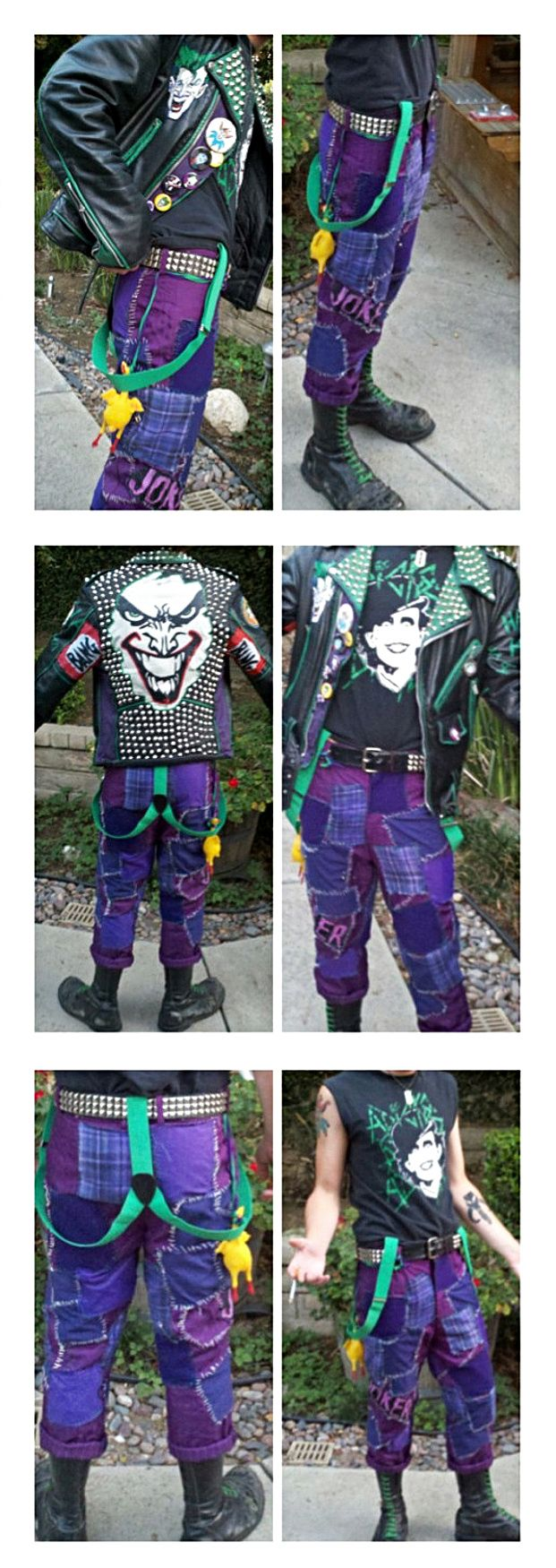 Punk Joker outfit - I can't even decide which board to pin this to