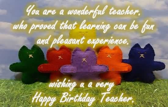 Beautiful Birthday Quotes for Teachers