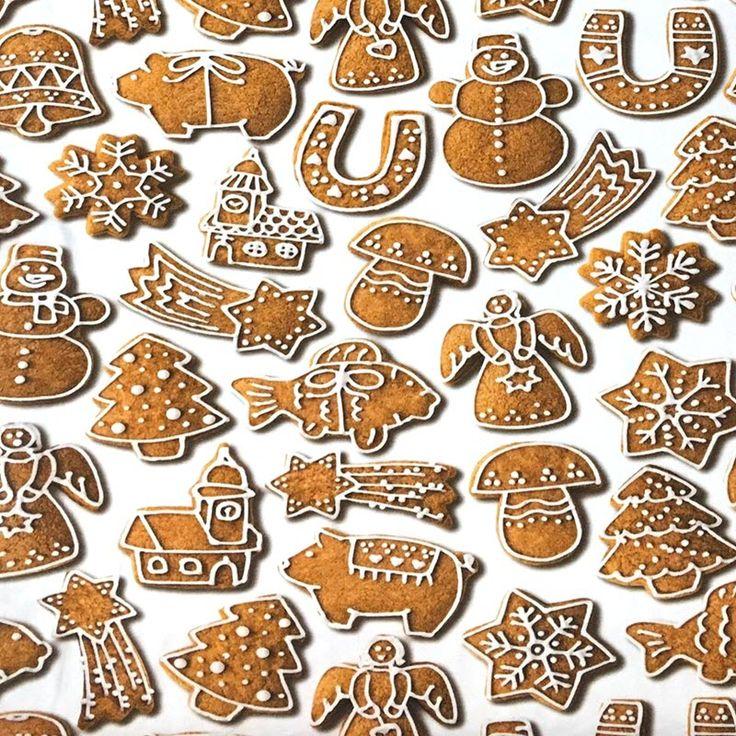Úplet Gingerbread digital print