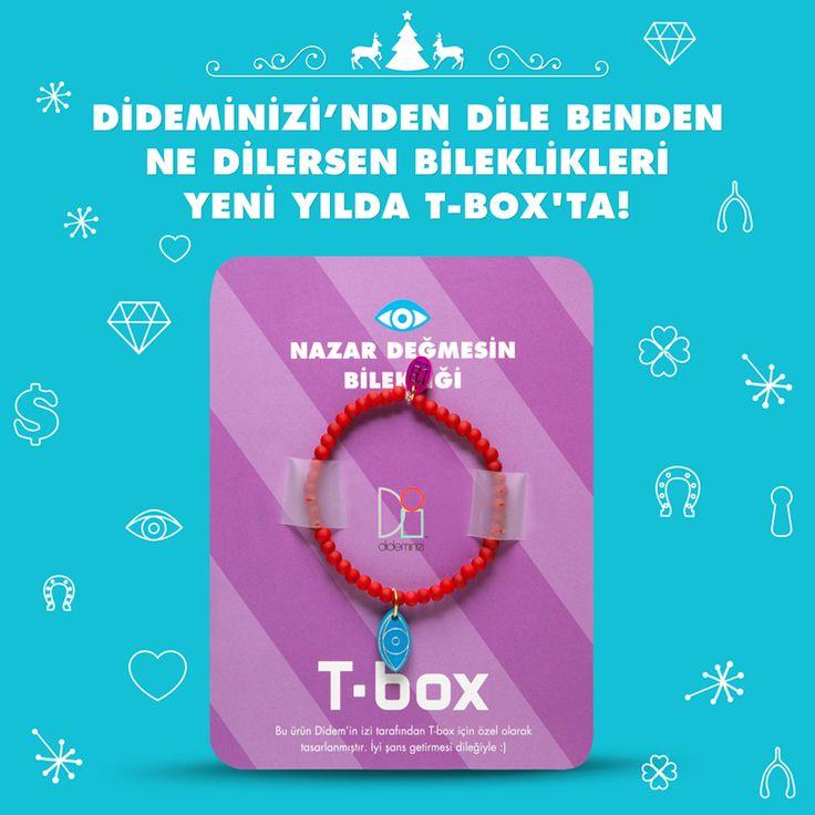 """Didemin İzi for T-box! Yeni yılda """"nazar değmesin"""" bilekliği #dideminizi #dideminizifortbox #aksesuar #bileklik"""