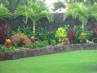 tropical landscape island for front yard | Bedroom Estate Rental in Waianae, Hawaii, USA - Makaha Beachfront ...