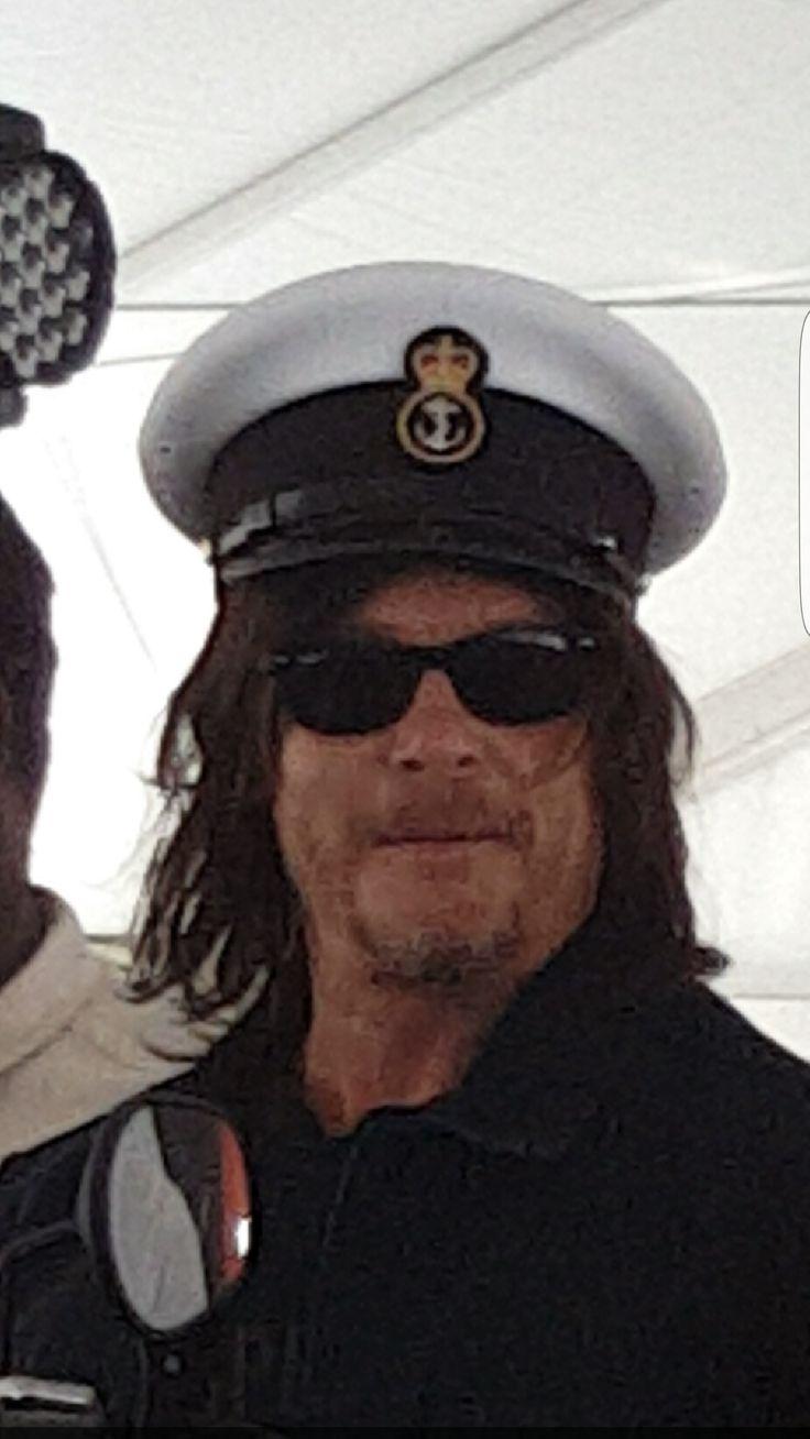 Norman Reedus wearing a Canadian Navy Officer's cap (Fleet Week NYC 2016)