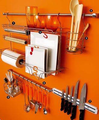 Utensílios domésticos instalados com segurança.