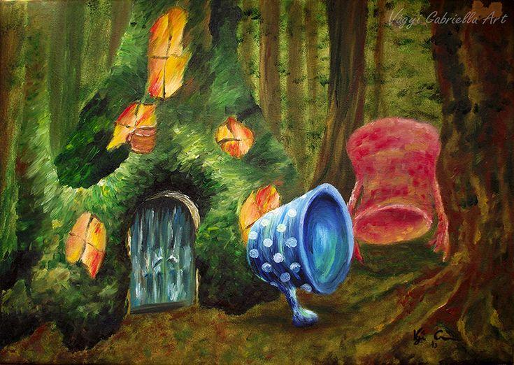 Bögrelak című olajfestmény - megvásárolható - Alkotásaim - Vágyi Gabriella ART