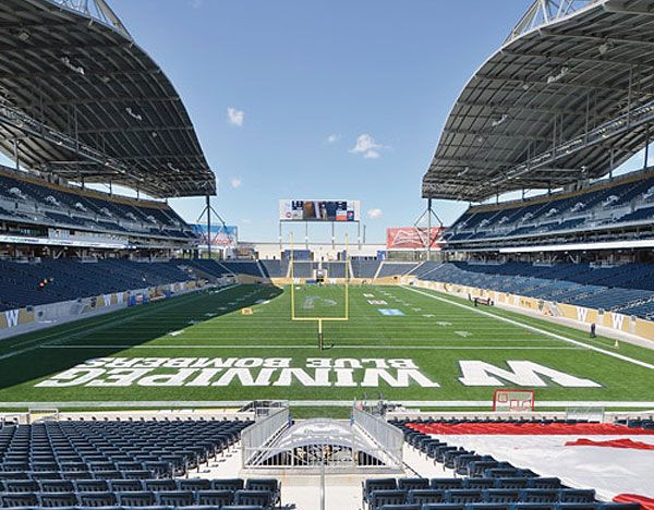 Check out the new Canadian Football League Stadium in Winnipeg on the Fort Garry campus of the University of Manitoba! #winnipeg #manitoba