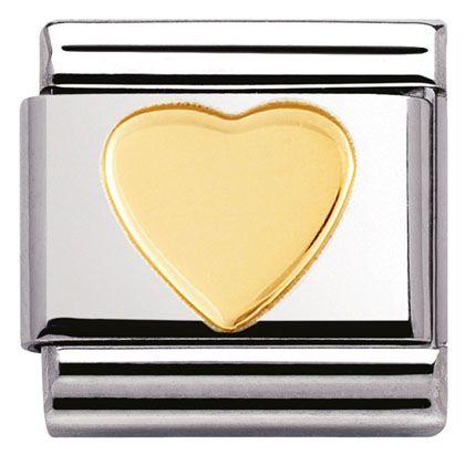 Heart Link for composable bracelet Nomination