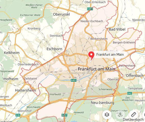 Frankfurt Landkarte Landkarte Frankfurt Frankfurt Am Main