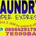 Laundry express sms/wa 085642917567 Reguler 3hr 4000/kg min 3kg Express 1hr (24 jam) 6000/kg min 3kg Vip 6 jam 8500/kg max 3kg(kelipatan)