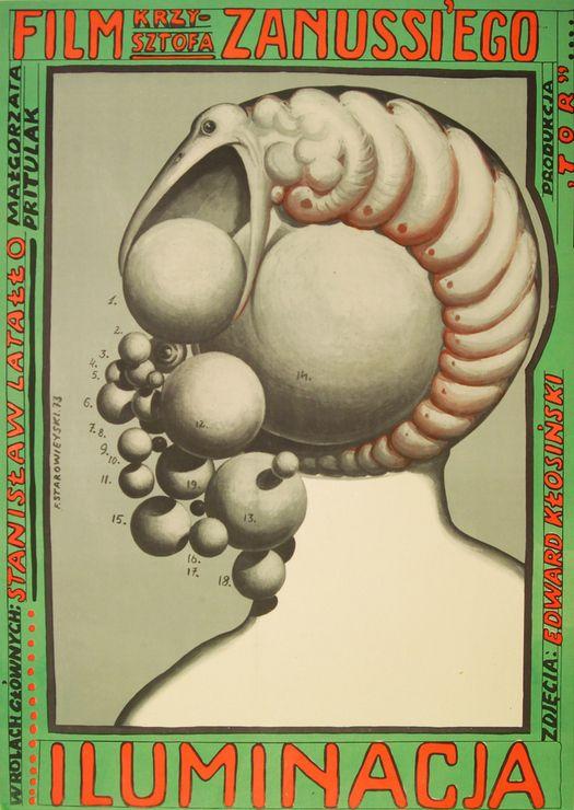 Iluminacja (1973) film poster by Franciszek Starowieyski