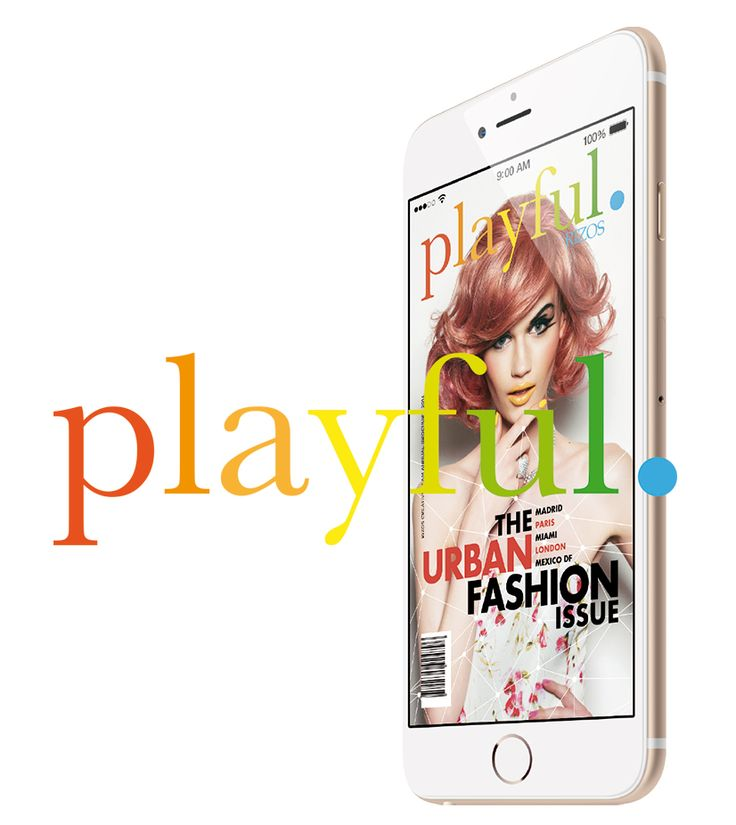 Playful Magazine. Mobile version.