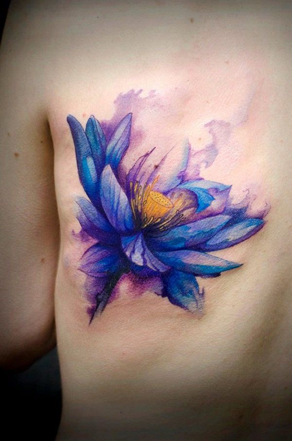 Watercolor lotus tattoo - 70 Elegant Lotus Tattoo Designs