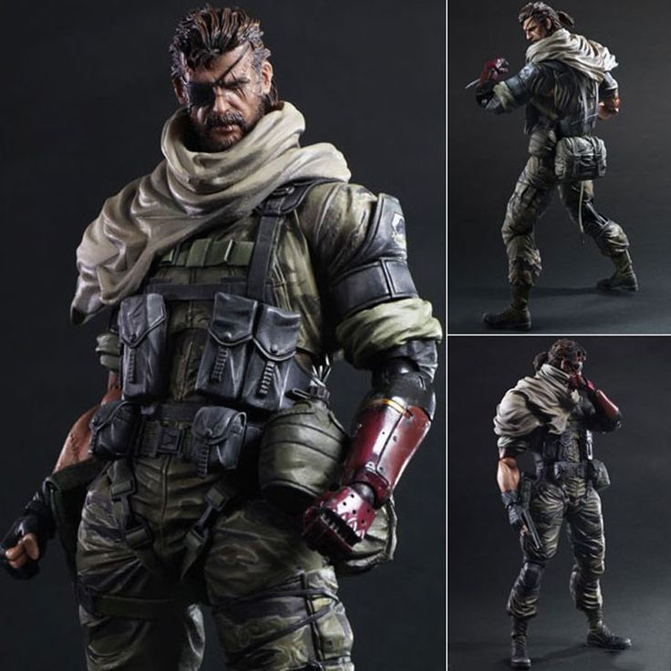 Metal Gear Solid V The Phantom Play Arts Kai Venom Snake Action Figure Collectible Model Toys 27cm high no box