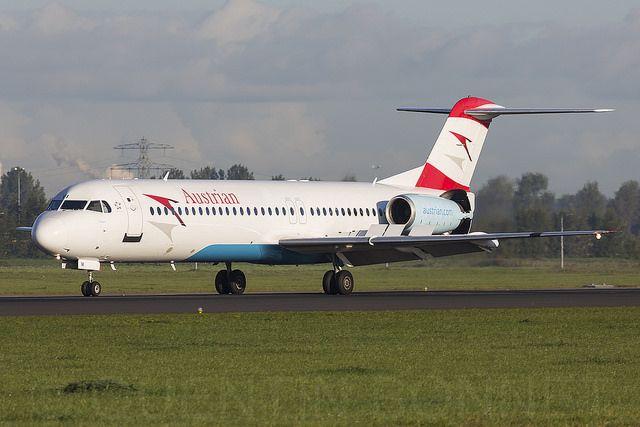 Austrian Airlines Fokker F100 OE-LVI | Quentin | Flickr