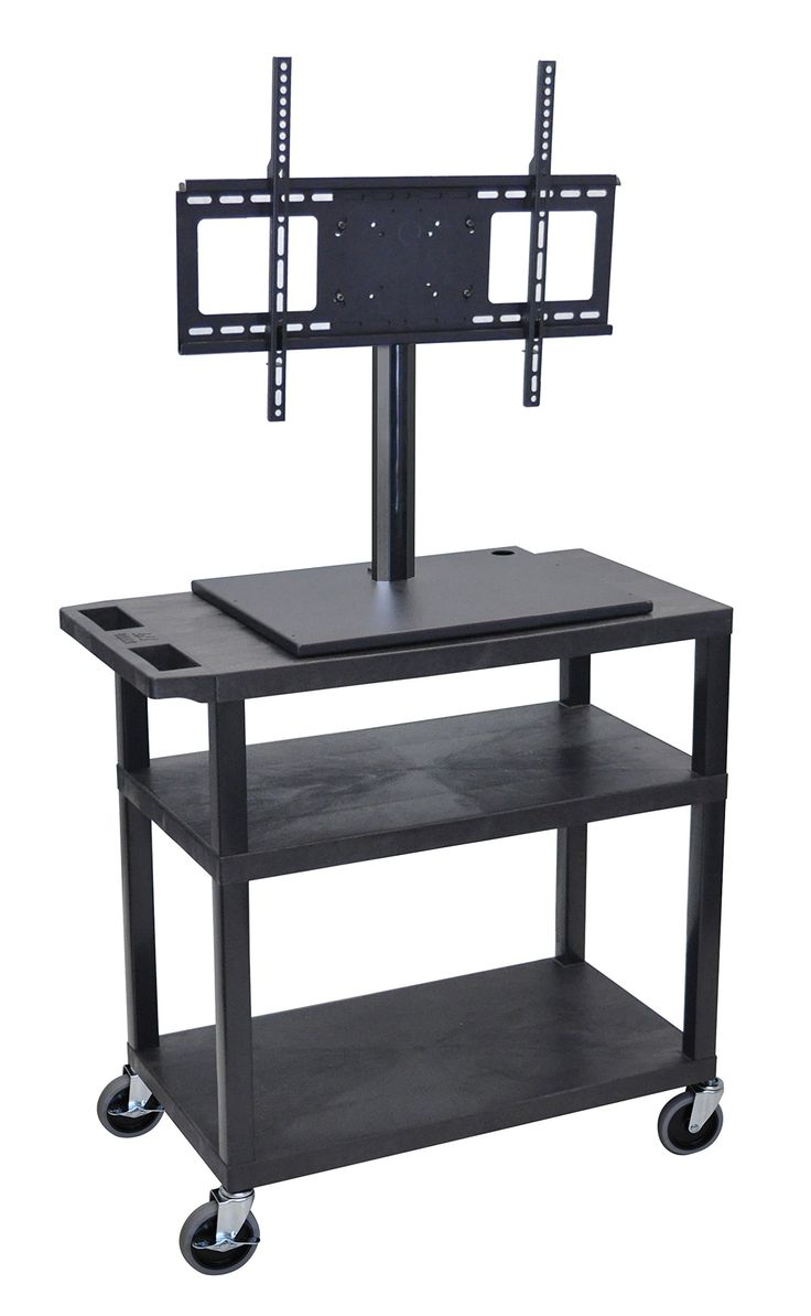 LUXOR ET34-B 3-Shelf TV Cart, Flat Panel. Luxor products are covered by a manufacturer's Limited. Presentation carts perfect for any situation. Unsurpassed fit and finish for that professional look.