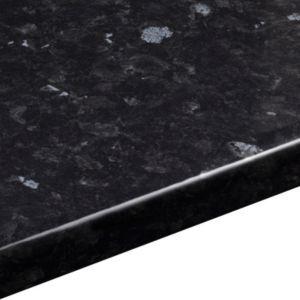Ebony Granite Gloss | Laminate Round Edge Worktops | Kitchen Worktops | Kitchen | Rooms | DIY at B&Q