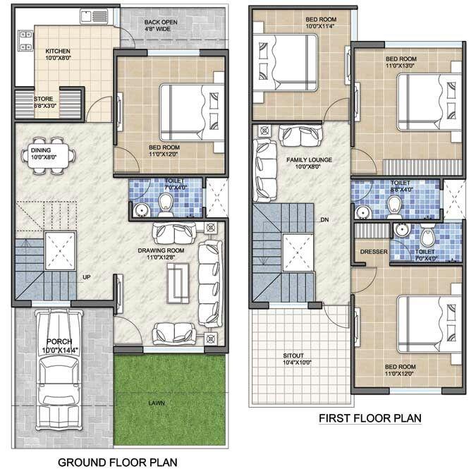 Dream Kitchen Bhopal: 2bhk House Plan, House