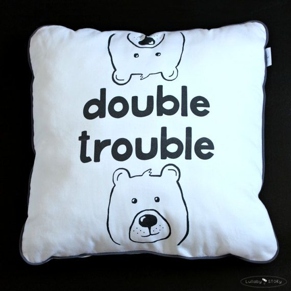Double Trouble Cushion-Decorative Pillow-Children by LullabySTORY
