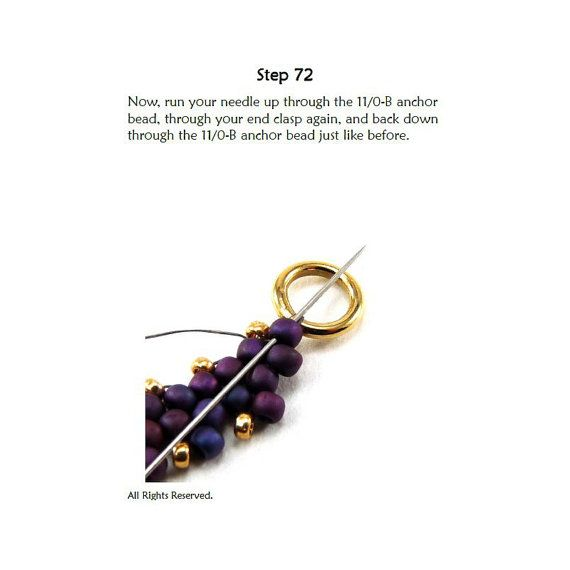 Beading Tutorial Pattern Necklace Diagonal by SimpleBeadPatterns