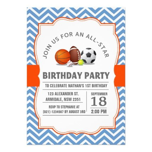 388 best 3rd birthday party invitations images on pinterest texts custom an all star sport birthday party card filmwisefo