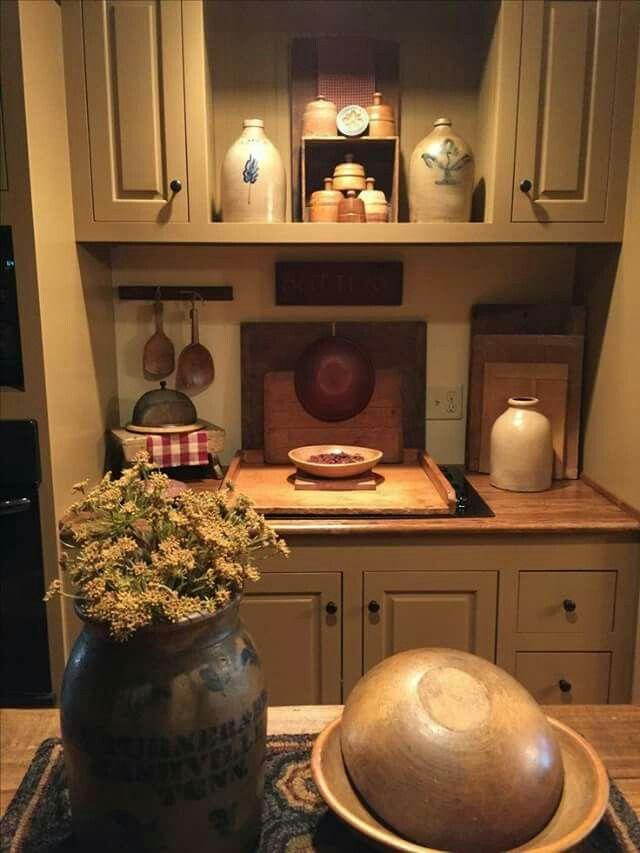 672 Best Primitive Colonial Kitchens Images On Pinterest