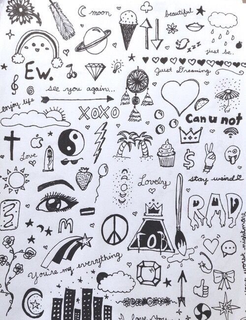 Little and easy doodles when you are bored