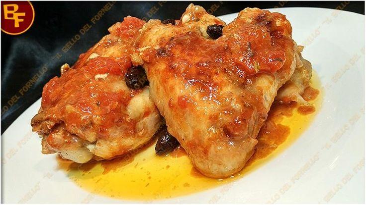 Alette di pollo in umido con maggiorana e olive