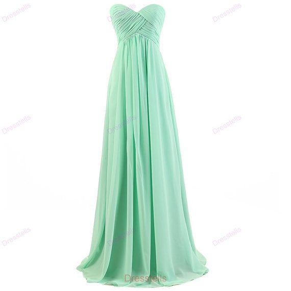 Mint bridesmaid dress long bridesmaid dresses / by dresstells
