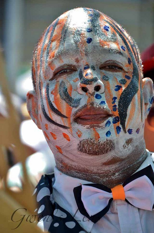 Crazy capetonians at the Kaapse Klopse music festival in Cape Town, #SouthAfrica